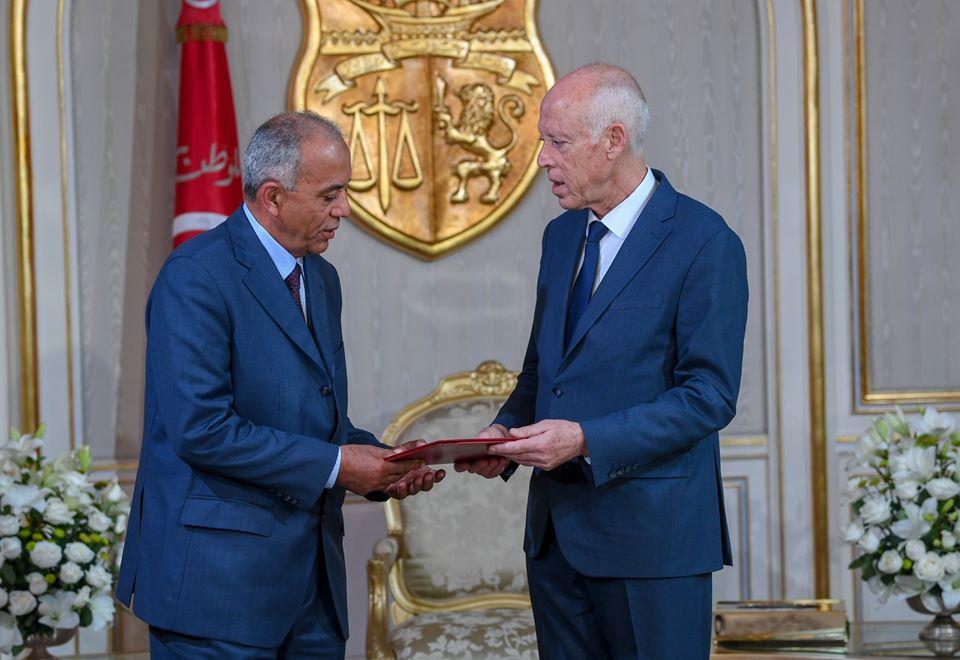 Tunisie [Photos]: Kaïs Saïed reçoit le chef du gouvernement proposé Habib Jemli