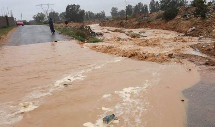 Tunisie-Intempéries: Route coupée entre Bourouis et Sers