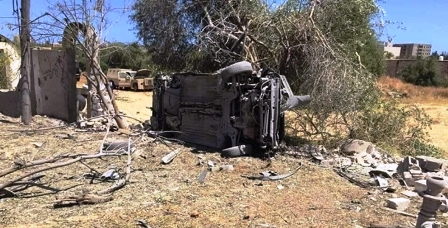 Libye: L'armée de Haftar bombarde un convoi de milices près des frontières tunisiennes