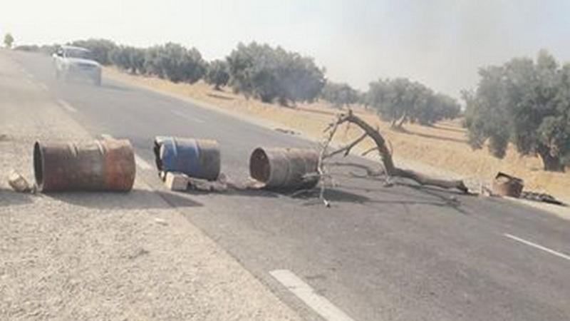 Tunisie: Fermeture de la route de Hajeb Layoune pour la deuxième journée consécutive