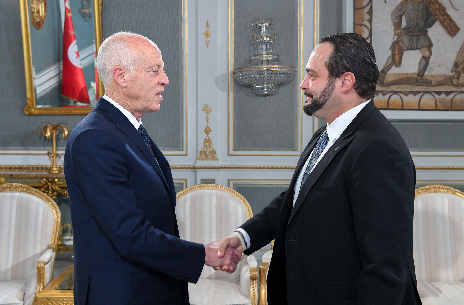 Tunisie : [photos] Kais Saïed reçoit le chef de la Mission d'observation électorale de l'Union européenne