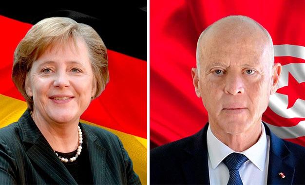 Tunisie- La situation en Libye, au cœur des concertations entre Kais Said et Angela Merkel