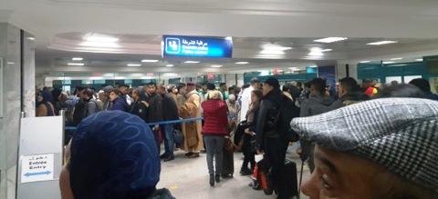 Tunisie – IMAGES: C'est la pagaille à l'aéroport de Tunis Carthage