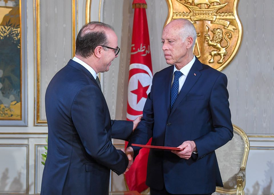 Photos – Officiel : Kais Saied charge Elyes Fakhfakh de former le gouvernement