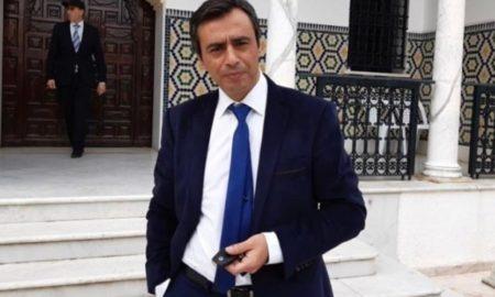 Tunisie: Jawhar Ben Mbarek arrive au Palais de Dar Dhiafa pour rencontrer Elyes Fakhfekh