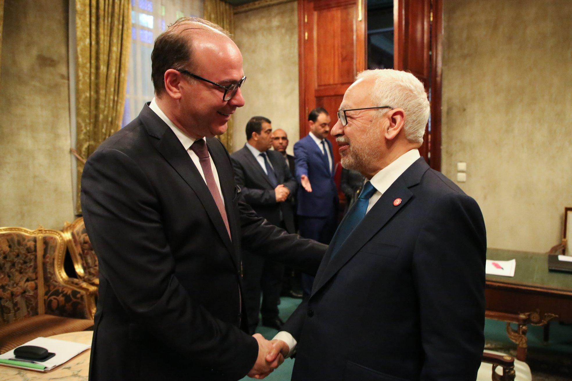Tunisie : Rached Ghanouchi félicite Elyès Fakhfekh