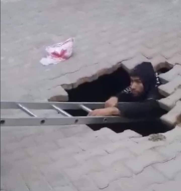 Tunisie: Chute d'un jeune dans un gouffre qui s'est ouvert soudainement dans un trottoir à Kairouan