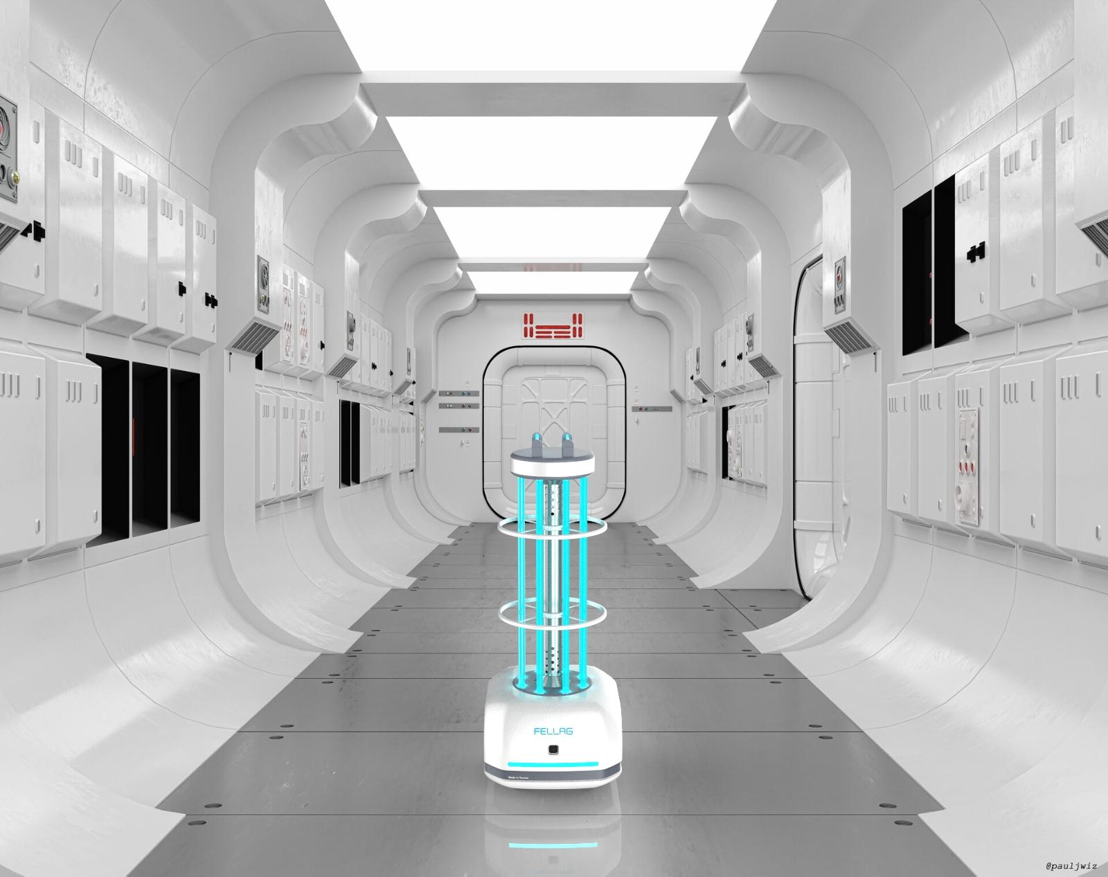 Par Samir HAMZA: Des robots médicaux UVC «Fellag» de désinfection par méthodes physique