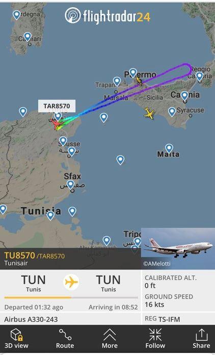 Un avion Tunisair en partance ver la Chine retourne à Tunis après 30 minutes de vol