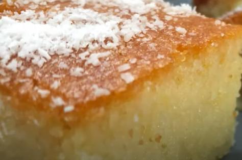 Recette : Gâteau à la semoule et aux amandes