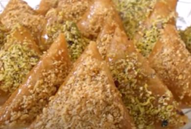 Recette : Samsa  tunisienne aux amandes