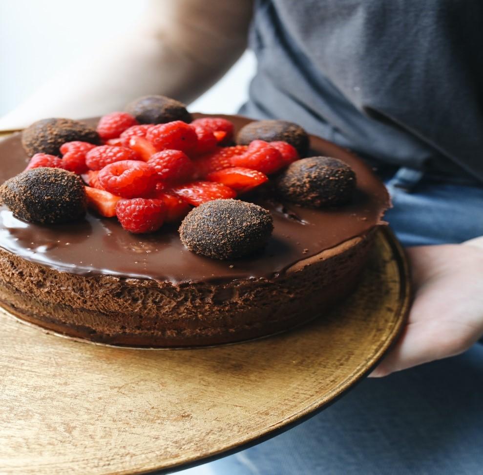 Recette : Gâteau au chocolat et aux fraises