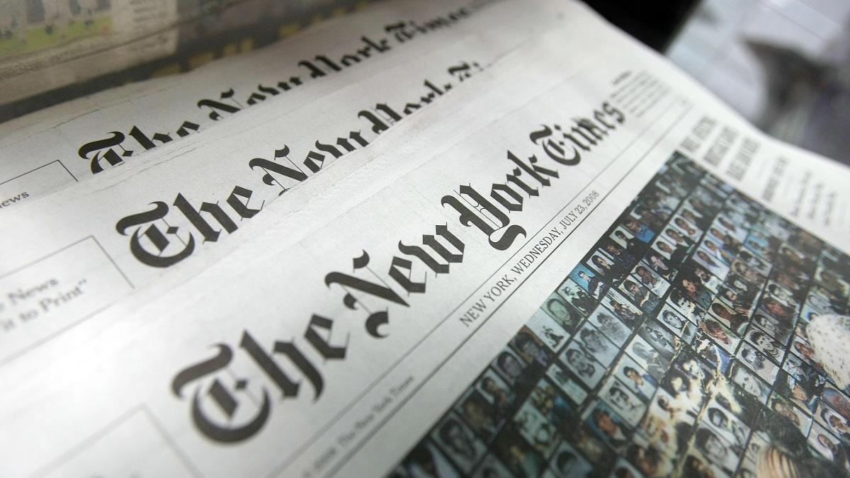"""Le New York Times reçoit Pulitzer pour """"avoir dénoncé la prédation du régime de Poutine""""."""