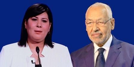Tunisie – Rached Ghannouchi présente ses condoléances à Abir Moussi