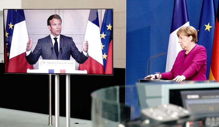 Coronavirus : Merkel et Macron proposent d'allouer au moins 500 milliards d'euros pour relancer l'Europe
