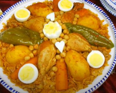 Recette : Nwasser tunisienne au poulet