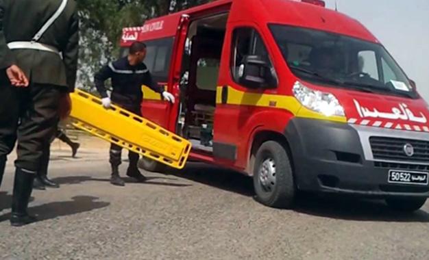 Tunisie: Quatre agents de la SONEDE blessés dans un accident de la route à Jendouba