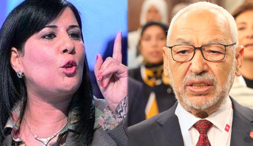 Tunisie: Abir Moussi accuse Ghannouchi de vouloir profiter du Parlement pour régler ses comptes avec Bourguiba