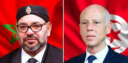 Tunisie – Kaïs Saïed s'entretient avec le Roi Mohamed VI du Maroc