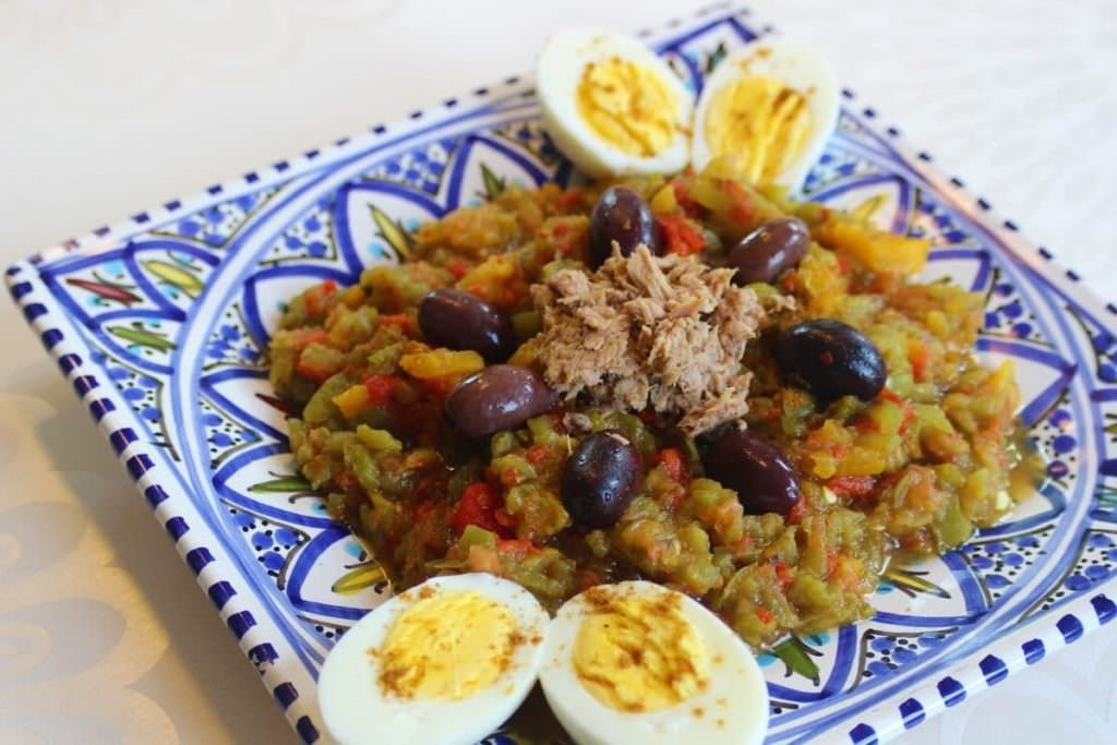 Recette :  Salade grillée tunisienne ( Slata mechwiya)