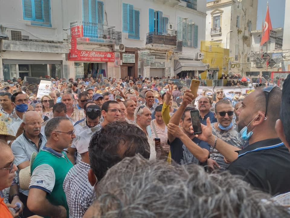 Tunisie: Des syndicalistes protestent à la place Mohamed Ali