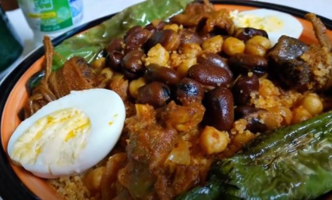 Recette : Couscous à la viande séchée ( Kousksi bil kadid)