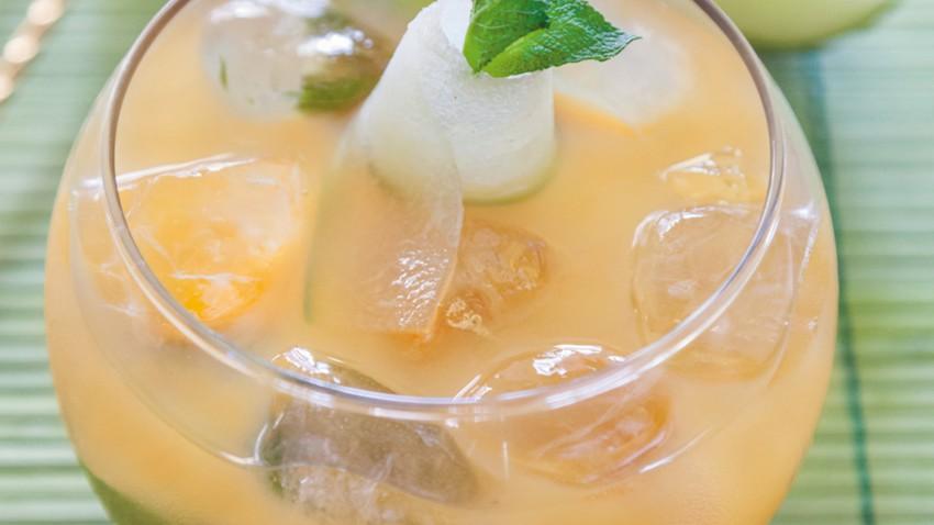 Cocktail melon et menthe