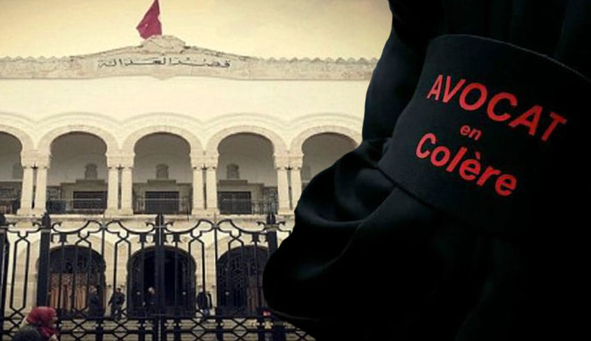Tunisie: Les avocats, solidaires avec leur collègue victime de violence policière