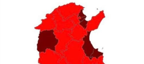 Tunisie – Covid19: tous les gouvernorats sont classées zones rouges