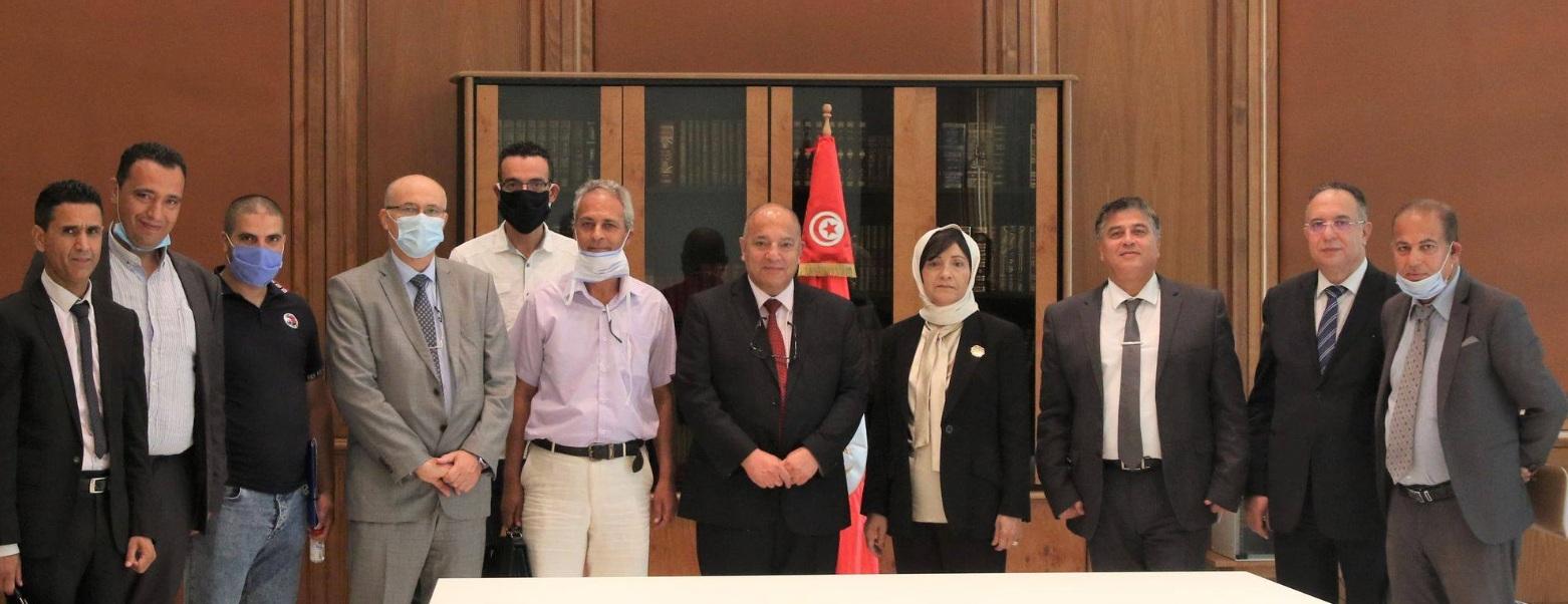 Tunisie : La ministre des domaines de l'Etat rencontre le Secrétaire général adjoint de l'UGTT