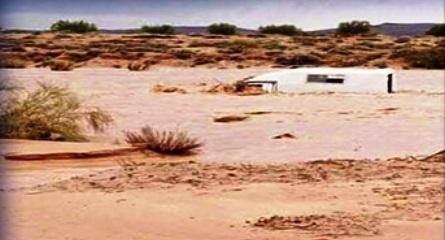 Tunisie – Sidi Bouzid: repêchage du cadavre de l'homme emporté hier dans sa voiture par la crue d'un oued