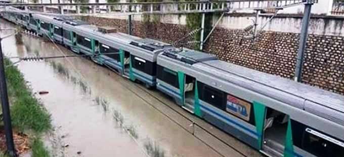 Tunisie – Intempéries: Interruption du trafic ferroviaire