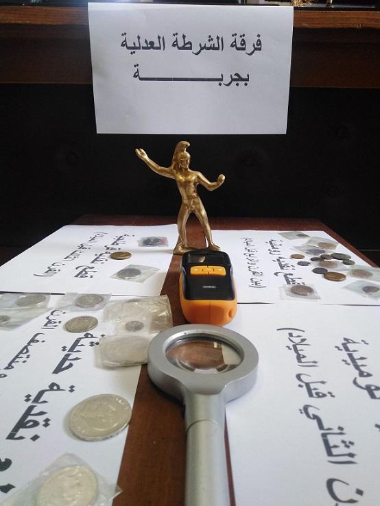 Tunisie [Photo]: Arrestation à Djerba d'un ressortissant étranger en possession de 40 pièces archéologiques