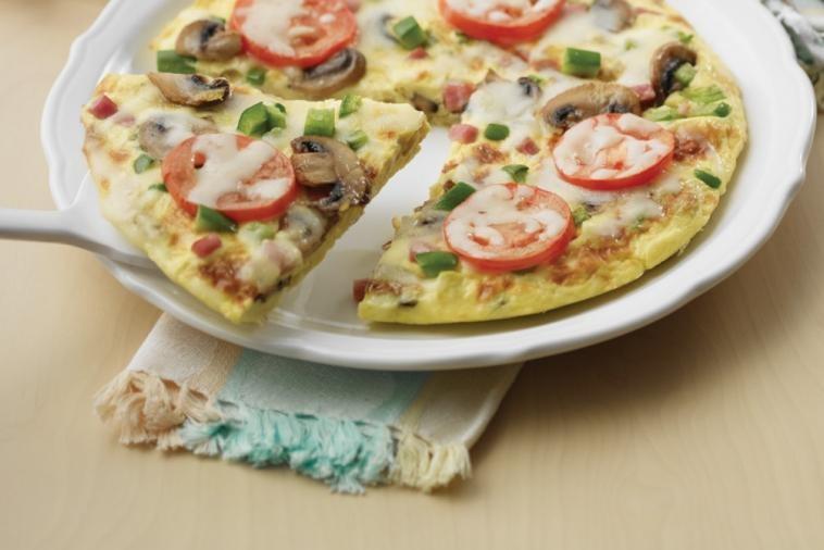 Recette :  Omelette comme une pizza