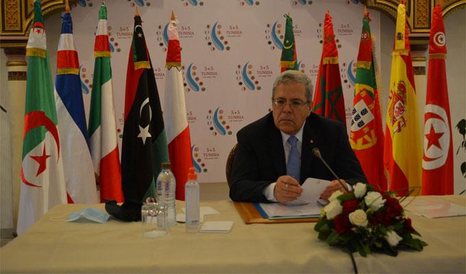 """Tunisie :  Le dossier libyen, le terrorisme et la migration irrégulière, au cœur de la réunion du """"Dialogue 5+5"""""""