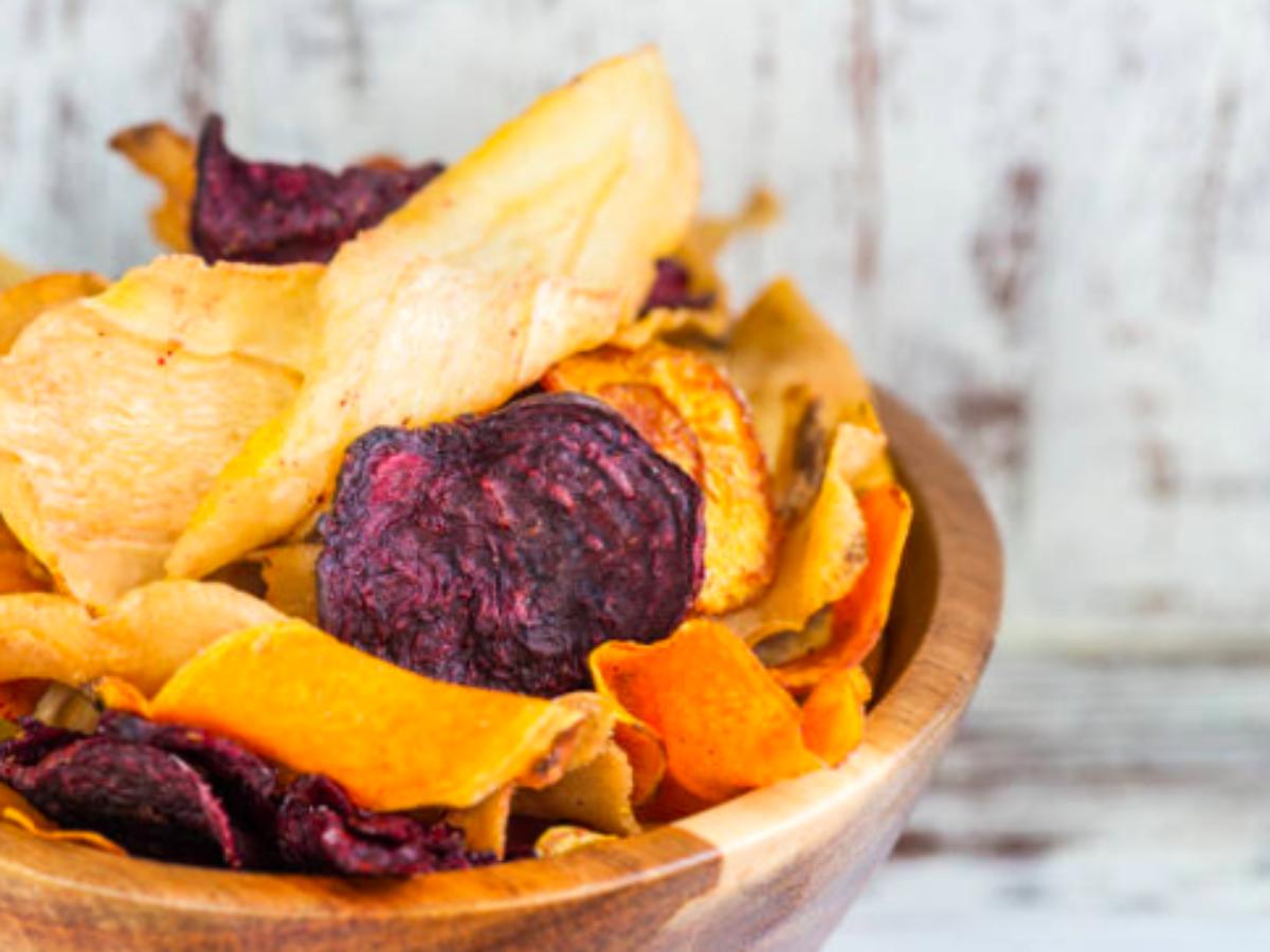Recette : Chips de légumes au four