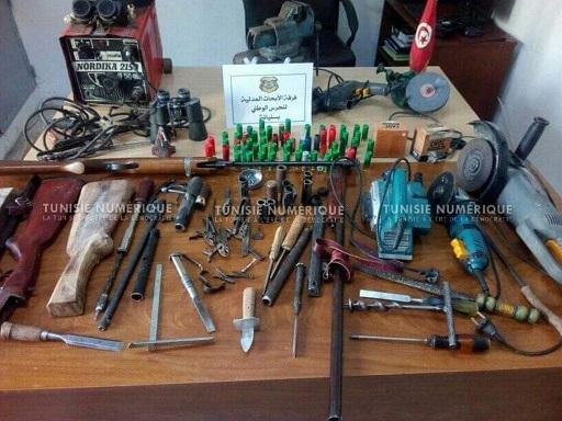 Tunisie [Photos]: Découverte d'un entrepôt de fabrication de fusils à Siliana