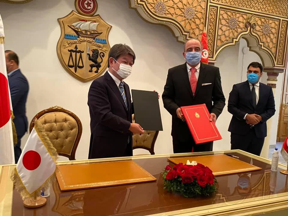 Tunisie- Japon: Signature de l'échange de notes relatif au don pour le projet de construction de navires de surveillance des pêches