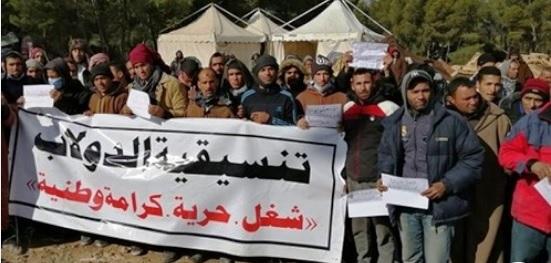 Tunisie – Kasserine: Grève de faim sauvage des protestataires du champ Douleb