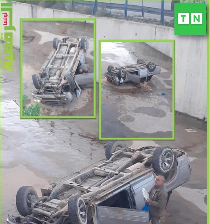 Tunisie-Sfax: Une camionnette chute dans un canal [Photos]