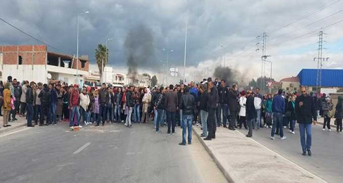 Tunisie : Protestation à Sbeitla