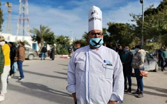 Tunisie: [Photos]: Les restaurateurs et cafetiers protestent à Djerba