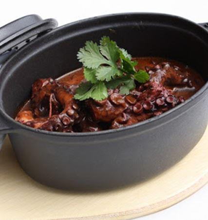 Recette :  Sauce au poulpe et au cumin (Kamounia bel karnit)