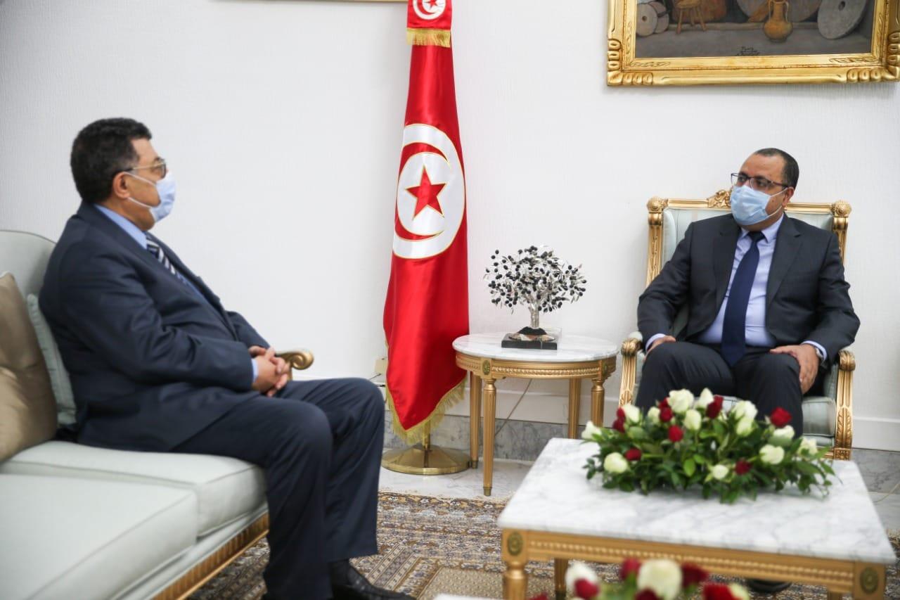 Tunisie: La situation politique du pays, objet d'une réunion entre Hichem Mechichi et Brahim Bouderbala