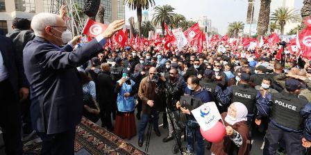 Tunisie – La gravité des messages de la manifestation d'Ennahdha