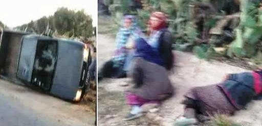 Tunisie – 30 ouvrières agricoles blessées dans le renversement de leur camionnette