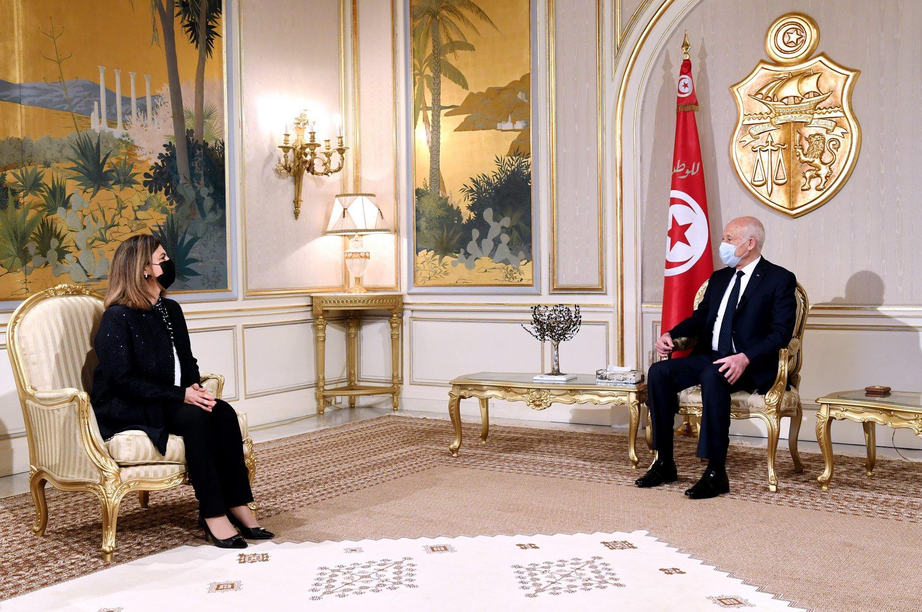 Palais de Carthage : Kais Saied reçoit la Ministre libyenne des Affaires Etrangères