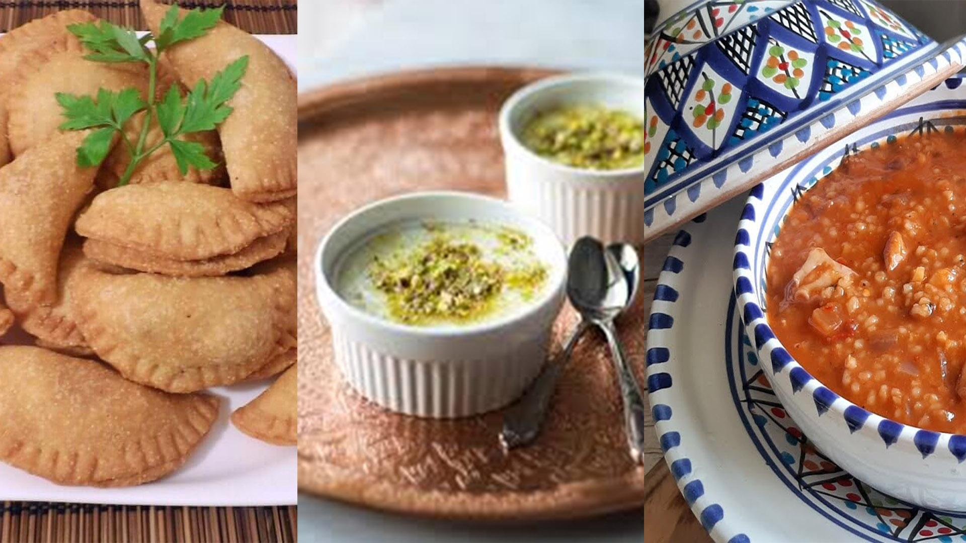 Idée menu Ramadan :  Soupe d'orge aux poulpes, Brik danouni, Mhalbiya