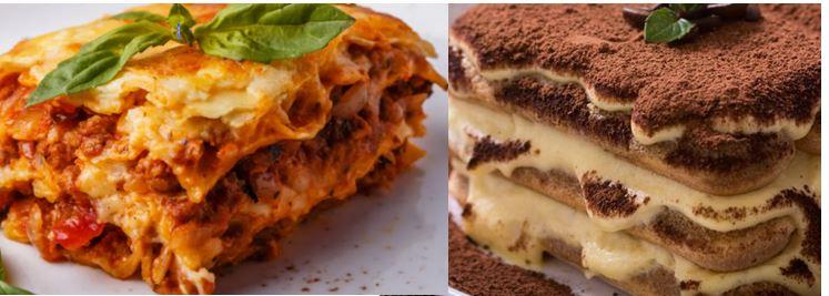 Idée recette : Lasagne, tiramisu
