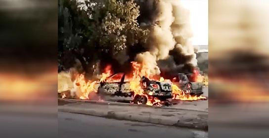 Tunisie – Deux individus masqués incendient deux voitures de la garde nationale